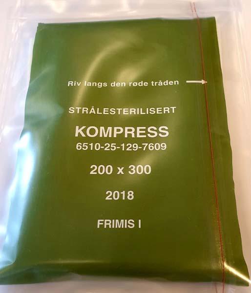 Kompress ikke heftende spesial 20x30cm grønn