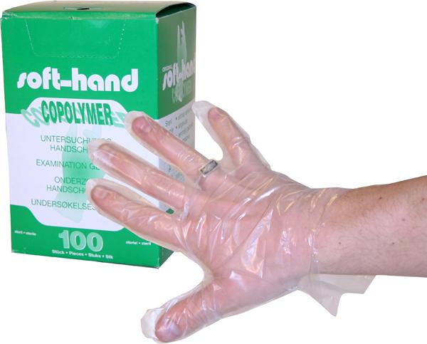 Hanske plast Soft-Hand L steril