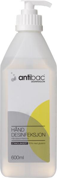 Hånddesinfeksjon Antibac 85% m/pumpe 600ml
