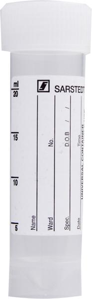 Urinprøve-/preparatglass m/etikett 25ml