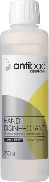 Hånddesinfeksjon Antibac 85% 250ml