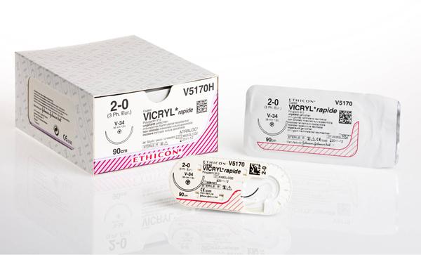 Sutur Vicryl Rapid V2920H 4-0 FS-2S 45cm hvit