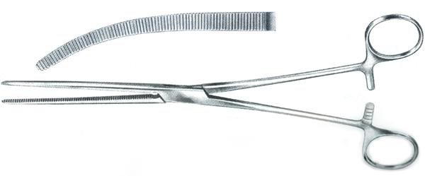 Arterieklemme avdeling buet 24cm