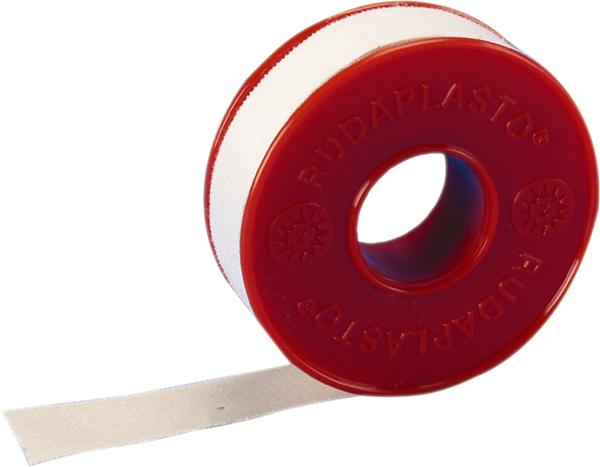 Plaster tekstil Rudaplasto m/spole 2,5cmx5m hvit