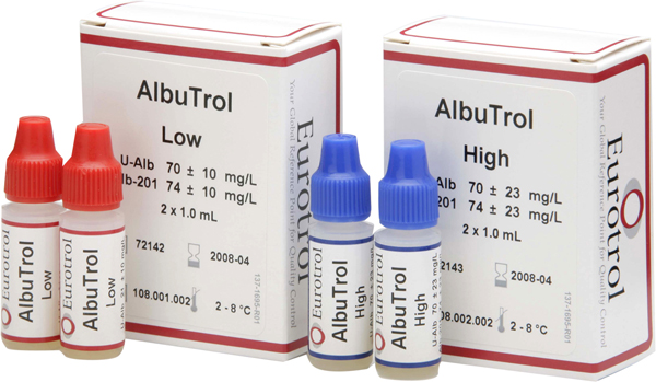 Hemocue Albutrol kontroll high 2x1ml