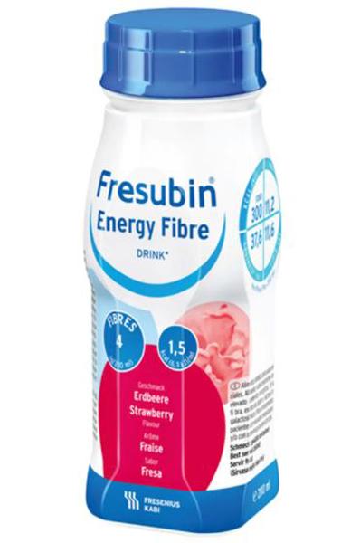 Drikk Fresubin Energy Fibre Drink jordb 200ml 4pk