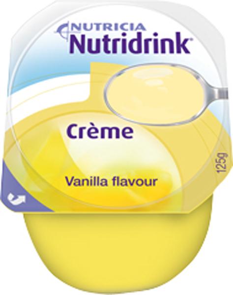 Tilskudd Nutridrink Creme vanilje 125gr 4pk