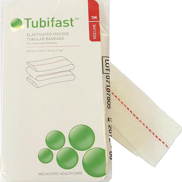 Fiksering Tubifast 2-way stretch 3,5cmx1m rød