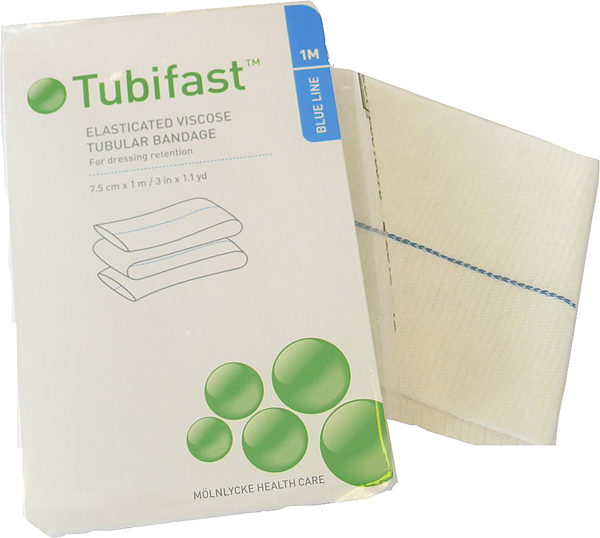 Fiksering Tubifast 2-way stretch 7,5cmx1m blå