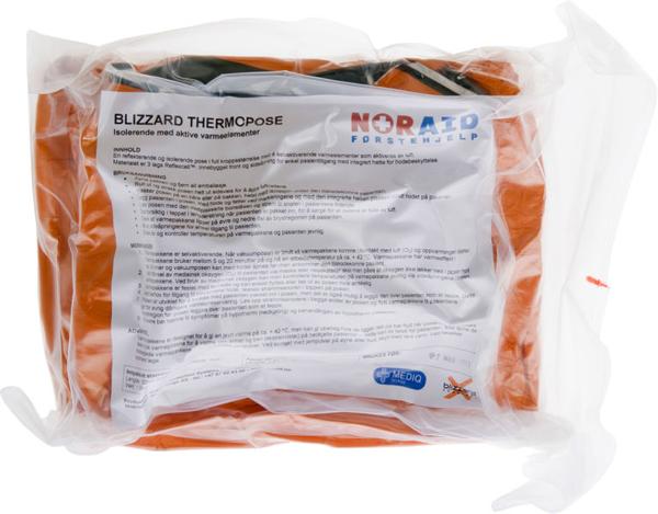 Førstehjelp Blizzard thermopose m/4 varmepk orange