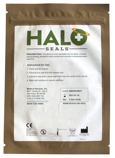 Bandasje okklusiv Halo Chest seal