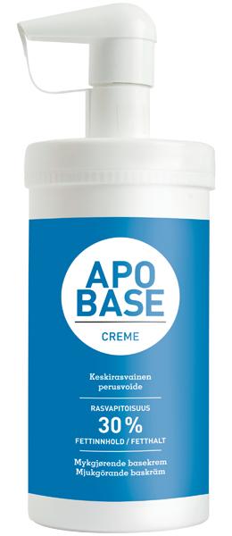 Hudkrem Apobase m/pumpe 440g