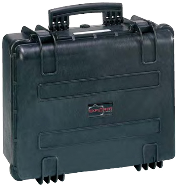 Koffert Explorer m/skum 52x43,5x23cm sort