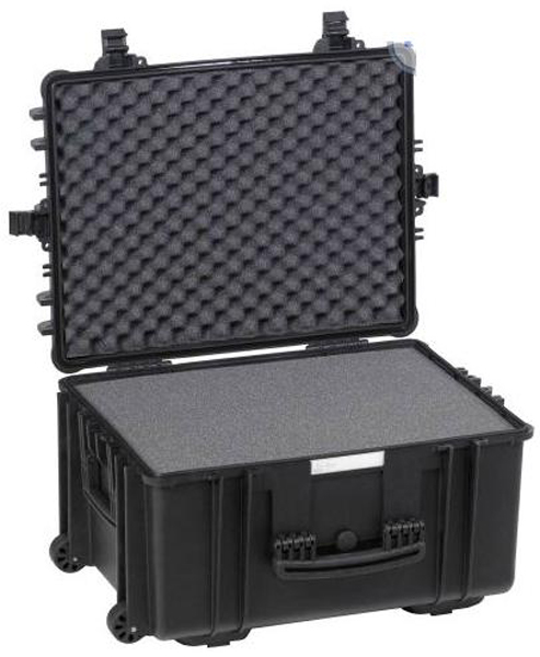 Koffert Explorer m/skum 67x51x37,2cm sort
