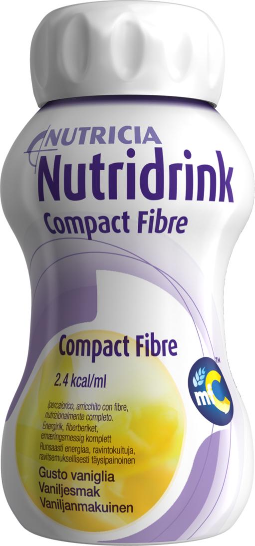 Drikk Nutridrink Compact Fibre vanilje 125ml 4pk