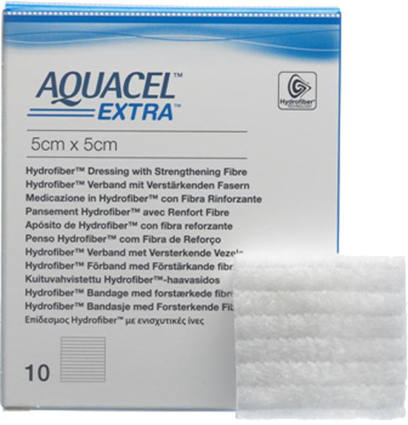Bandasje hydrofiber Aquacel Extra 5x5cm