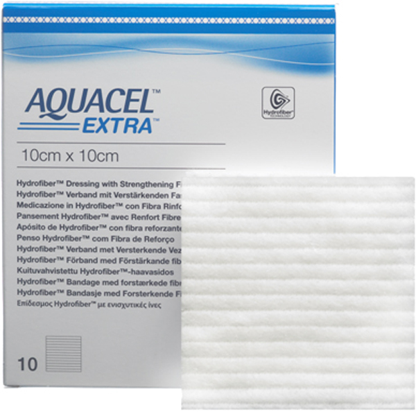 Bandasje hydrofiber Aquacel Extra 10x10cm