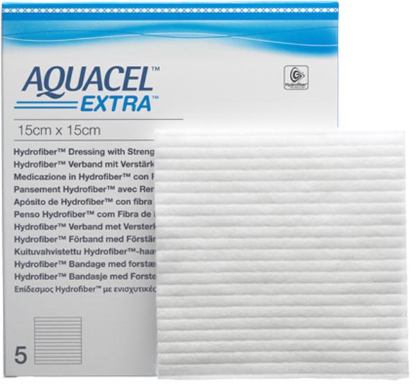 Bandasje hydrofiber Aquacel Extra 15x15cm