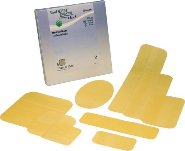 Bandasje sårplate Duoderm ekstra tynn 10x10cm
