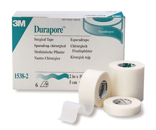 Tape silke Durapore u/dispenser 5cmx9,1m