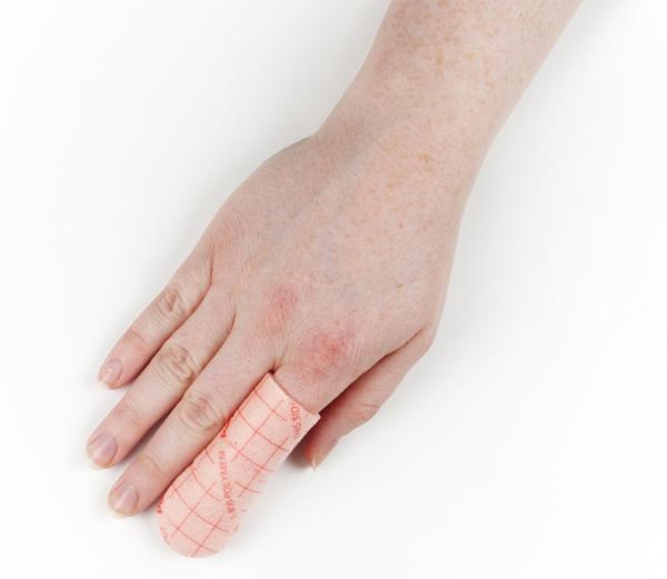 Bandasje skum PolyMem finger/tå u/kleber 3x8cm S