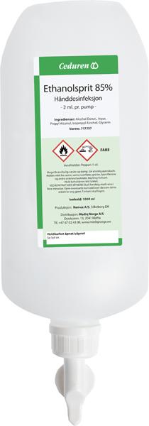 Hånddesinfeksjon Ceduren 85% m/dos.kapsel 1000ml