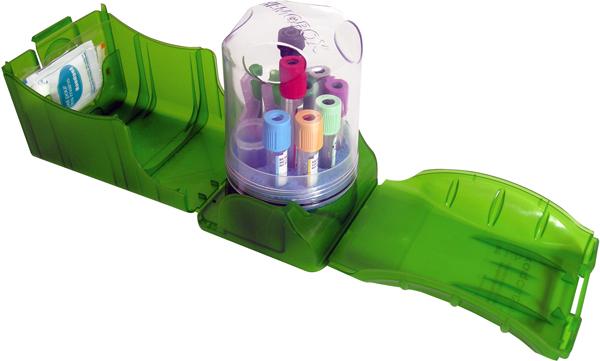 Blodprøvetaking transportbox Hemobox IV grønn