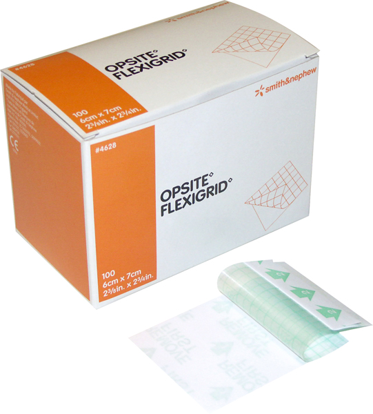 Bandasje transparent Opsite Flexigrid 6x7cm