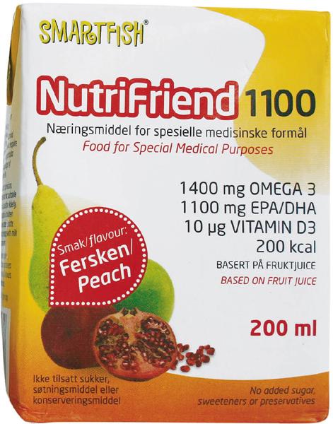 Næringsdrikk Nutrifriend 1100 Fersken 200ml