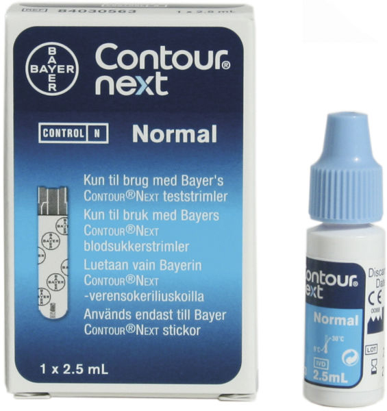 Contours Next glucose kontroll normal