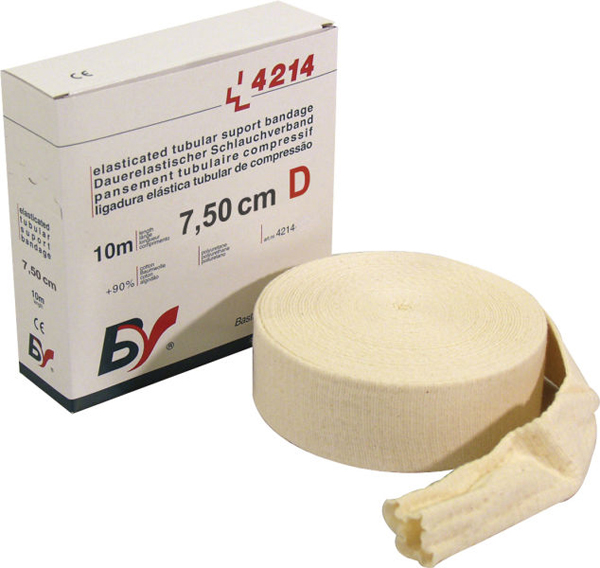 Fiksering Tubeband BV sup D arm/kne 7,5cmx10m