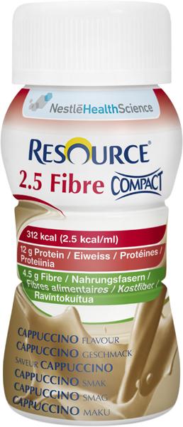Drikk Resource 2.5 Fibre Compact cappuc 125ml 4pk