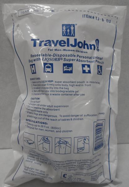 Urinpose Travel John unisex m/trakt + pulver 800ml
