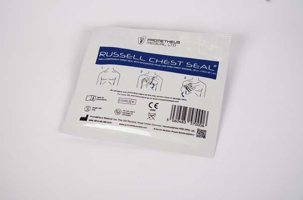 Bandasje okklusiv Russel Chest seal m/ventil