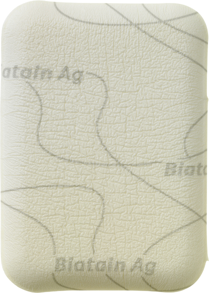 Bandasje sølv skum Biatain AG Non Adhesive 5x7cm