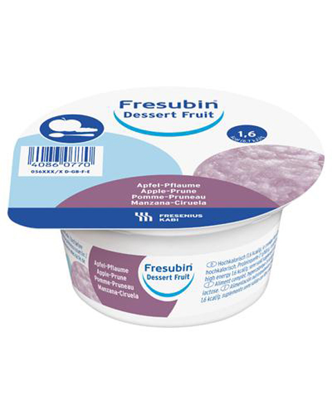 Dessert Fresubin fruit eple-plomme 125gr 4pk