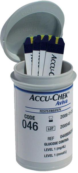 Accu Chek Aviva glucose teststrimler