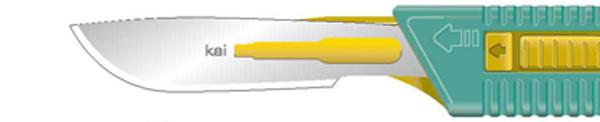Skalpell steril Kai sikkerhetsskalpell nr. 22