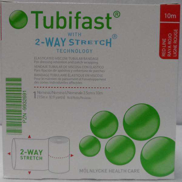 Fiksering Tubifast 2-way stretch 3,5cmx10m rød