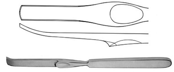 Raspatorium ben Lambotte 20mm bred 21cm