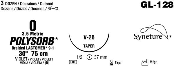 Sutur Polysorb 0 fiolett V26 75cm