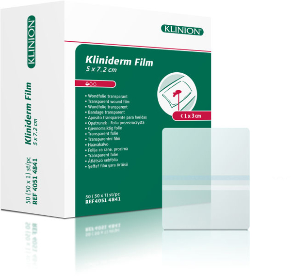 Bandasje transparent Kliniderm Film 5x7,2cm
