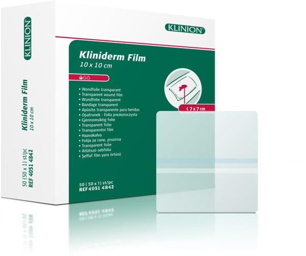 Bandasje transparent Kliniderm Film 10x10cm