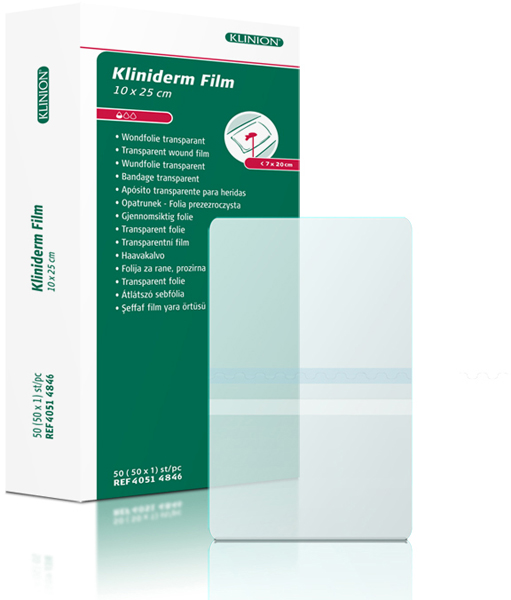 Bandasje transparent Kliniderm Film 10x25cm