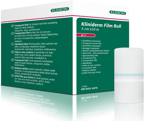 Bandasje transparent Kliniderm Film Roll 5cmx10m