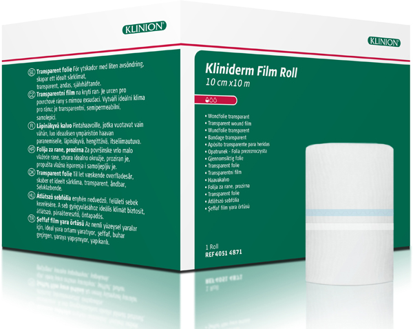 Bandasje transparent Kliniderm Film Roll 10cmx10m