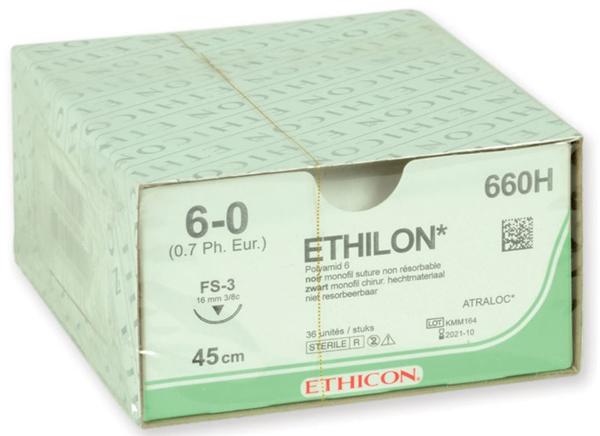 Sutur Ethilon 660H 6-0 FS-3 45cm