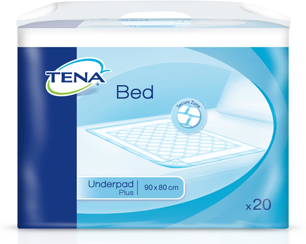 Kladd Tena Bed Plus 80x90cm 20pk