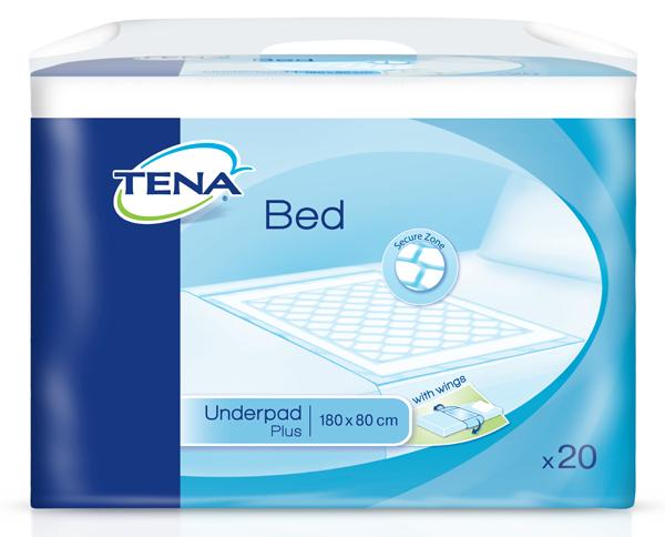 Kladd Tena Bed Plus m/vinger 80x180cm 20pk
