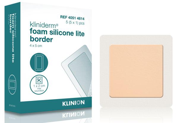Bandasje skum Kliniderm Silicone Lite Border 4x5cm